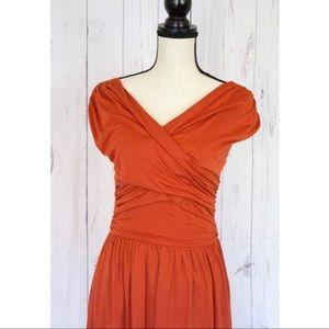 Velvet Whirligig Dress Orange